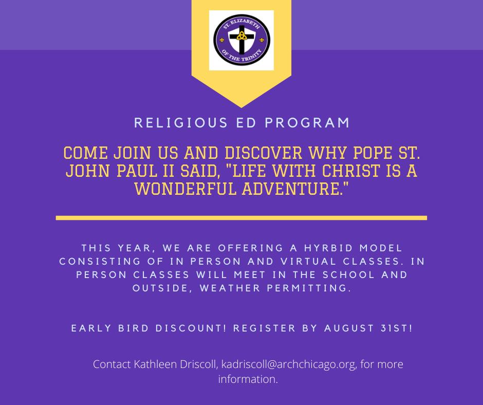 St. Elizabeth Religious Education
